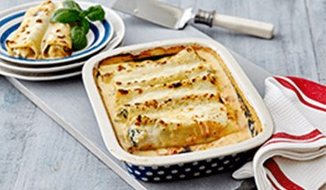 Spinach Cannelloni with Béchamel Sauce